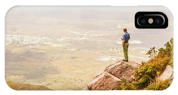Mountainous iPhone Case - Tourist On The Tip Of Western Tasmania by Jorgo Photography - Wall Art Gallery