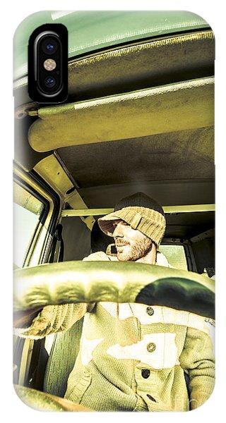 Caravan iPhone Case - Tourist Sightseeing In Van by Jorgo Photography - Wall Art Gallery