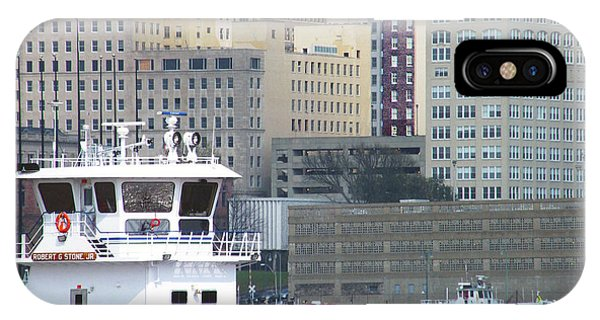 Towboat Robt G Stone At Memphis Tn IPhone Case
