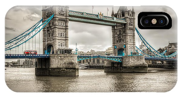 Tower Bridge In London In Selective Color IPhone Case