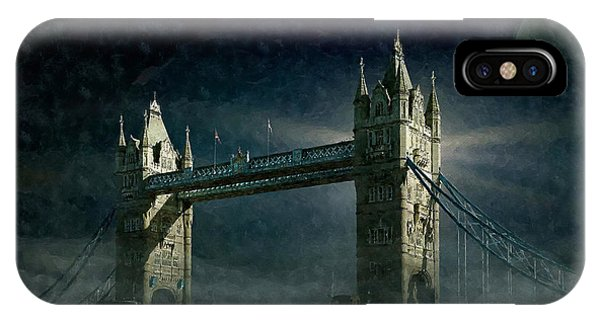 Tower Bridge In Moonlight IPhone Case