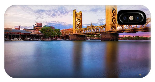 Tower Bridge Sacramento 3 IPhone Case