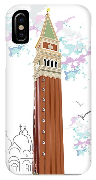 Tower Of Campanile In Venice IPhone Case
