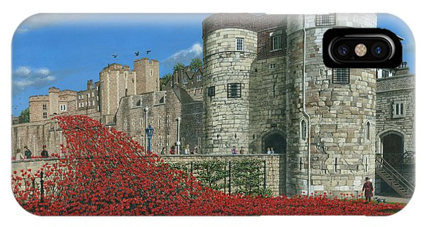 Tower Of London Poppies - Blood Swept Lands And Seas Of Red  IPhone Case
