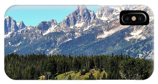 Towering Teton Range  IPhone Case