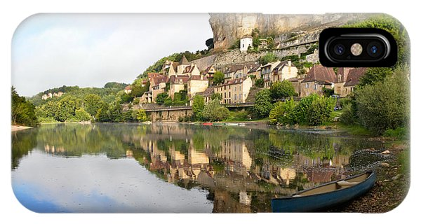 IPhone Case featuring the photograph Town Of Beynac-et-cazenac Alongside Dordogne River by IPics Photography
