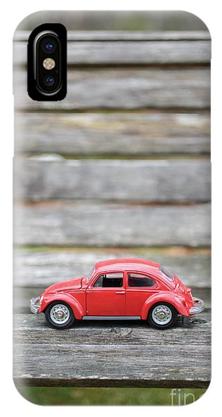 Little Things iPhone Case - Toy Car On A Bench by Edward Fielding