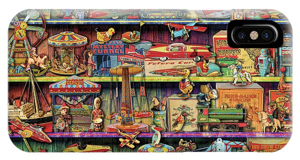 Shelves iPhone Case - Toy Wonderama by MGL Meiklejohn Graphics Licensing