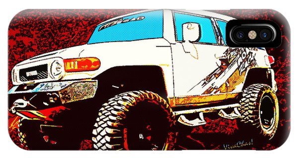 Toyota Fj Cruiser 4x4 Cartoon Panel From Vivachas IPhone Case