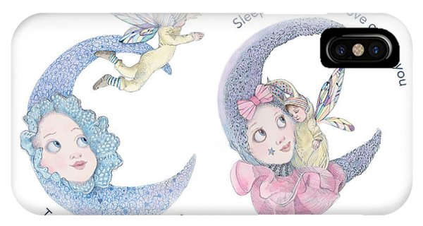Lavender iPhone Case - Toys, Joys, Baby And Moon by Nancy Lee Moran