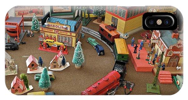 Toytown - Train Set Overview IPhone Case
