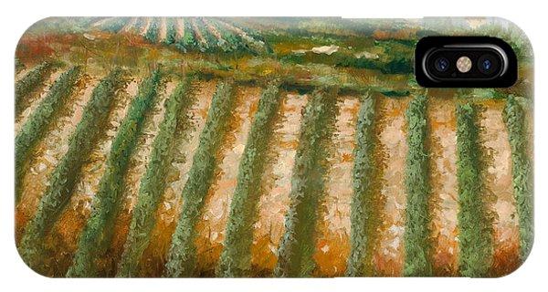 Fruit iPhone Case - Tra I Filari Nella Vigna by Guido Borelli