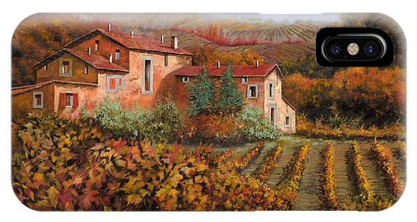 Farm iPhone Case - tra le vigne a Montalcino by Guido Borelli