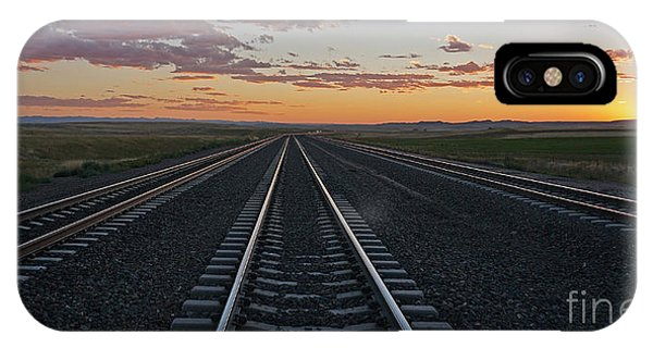 Tracks Into Sunset IPhone Case