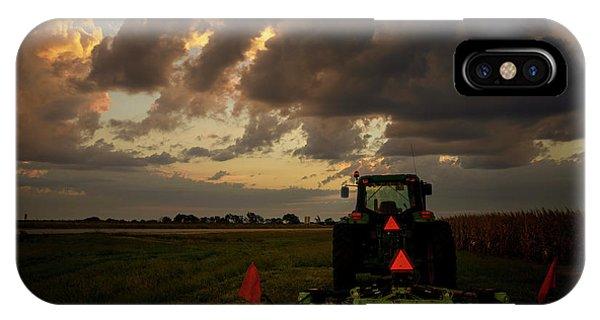Tractor At Sunrise - Chester Nebraska IPhone Case