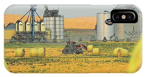 IPhone Case featuring the photograph Tractor Moving Hay 7352 by Jerry Sodorff