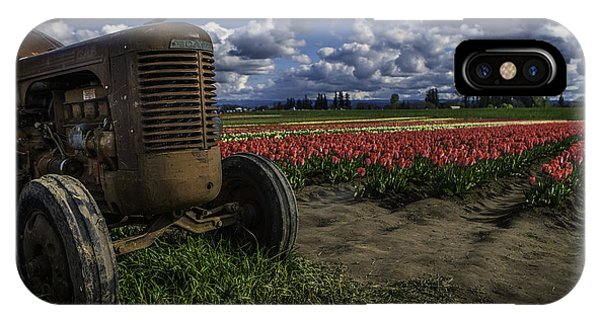 Tractor N' Tulips IPhone Case