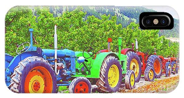 Oyama iPhone Case - Tractor Row by Malanda Warner