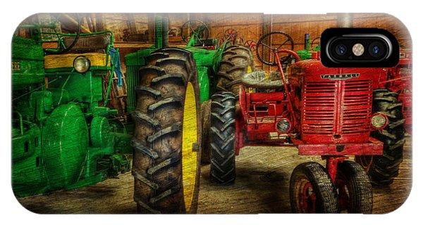 Tractors At Rest - John Deere - Mccormick - Farmall - Farm Equipment - Nostalgia - Vintage IPhone Case