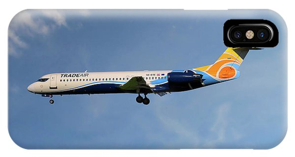100 iPhone Case - Trade Air Fokker 100 by Smart Aviation