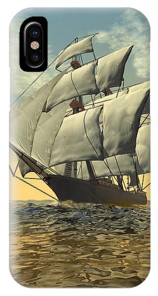 Schooner iPhone Case - Tradewinds 2 by Carol and Mike Werner