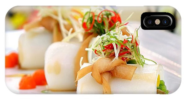 IPhone Case featuring the photograph Traditional Chinese Hakka Rice Noodle Roll by Yali Shi