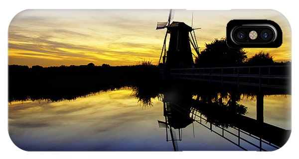 Orange Sunset iPhone Case - Traditional Dutch by Chad Dutson