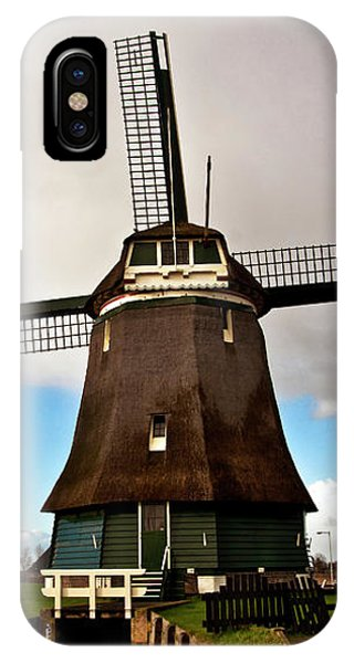 Traditional Dutch Windmill Near Volendam  IPhone Case