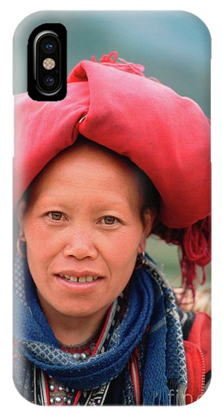 Traditional Fashion Of A Red Dzao Woman IPhone Case