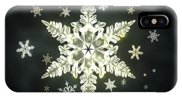 iPhone Case - Traditional Sunlight Snowflakes by Jules Gompertz