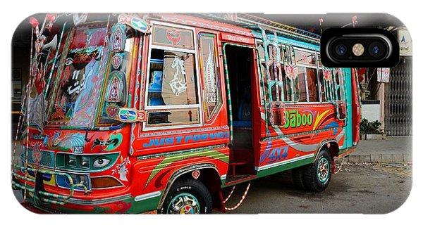Traditionally Decorated Pakistani Bus Art Karachi Pakistan IPhone Case