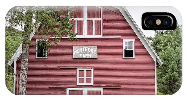 New England Barn iPhone Case - Traditonal Red New England Barn by Edward Fielding