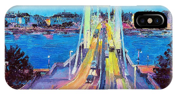 Traffic On Elisabeth Bridge At Dusk IPhone Case