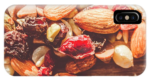 Energy iPhone Case - Trail Mix High-energy Snack Food Background by Jorgo Photography - Wall Art Gallery