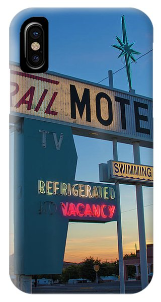 Trail Motel At Sunset IPhone Case