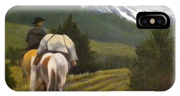 IPhone Case featuring the painting Trail Ride by Tammy Taylor