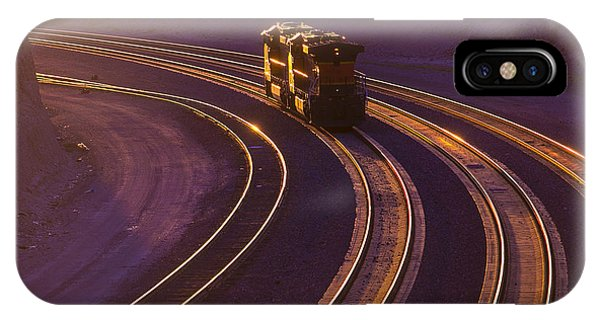 Train iPhone Case - Train At Sunset by Garry Gay