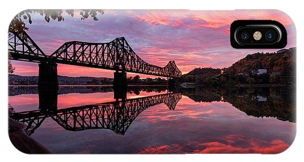 Train Bridge At Sunrise  IPhone Case