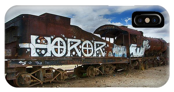 Train Graveyard Uyuni Bolivia 13 IPhone Case