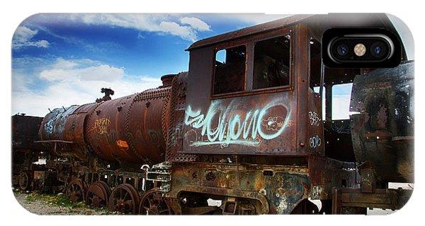 Train Graveyard Uyuni Bolivia 16 IPhone Case