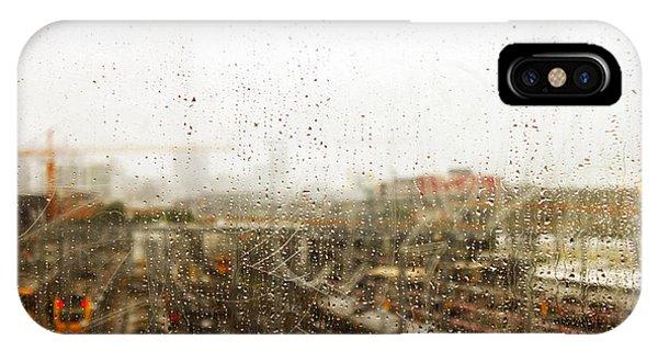 Train In The Rain IPhone Case