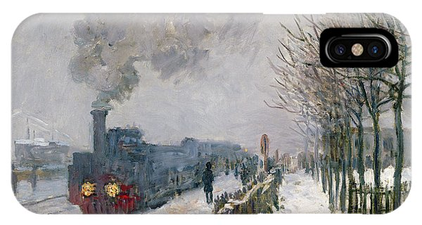 Ice iPhone Case - Train In The Snow Or The Locomotive by Claude Monet