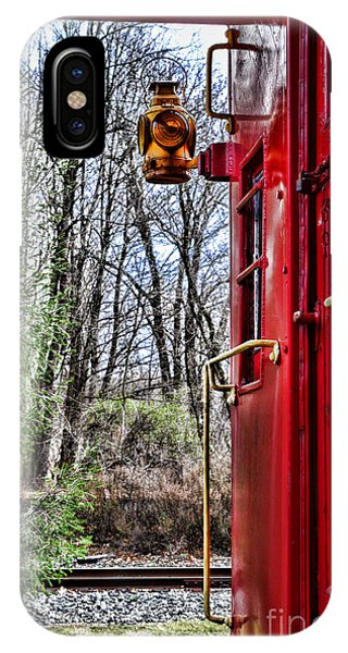 Red Caboose iPhone Case - Train - The Red Caboose by Paul Ward