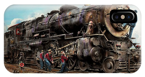 Railroad Signal iPhone Case - Train - Working On The Railroad 1930 by Mike Savad