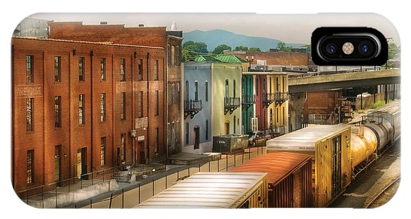 Savad iPhone Case - Train - Yard - Train Town by Mike Savad
