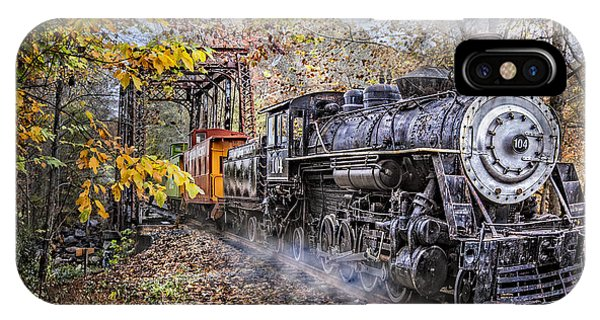 Red Caboose iPhone Case - Train's Coming by Debra and Dave Vanderlaan