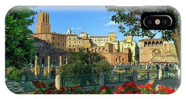 Trajan's Forum, Traiani, Roma, Italy IPhone Case
