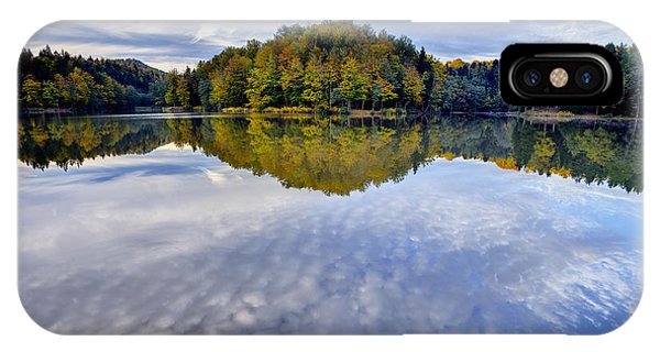 Trakoscan Lake In Autumn IPhone Case