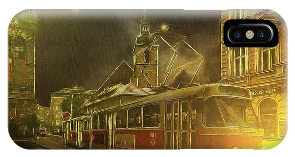 Tramatic - Prague Street Scene IPhone Case