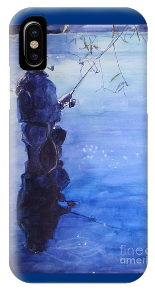 Watercolor Tranquil Fishing IPhone Case
